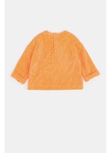 BG Baby Kız Bebek Neon Oranj S-Shirt Oranj